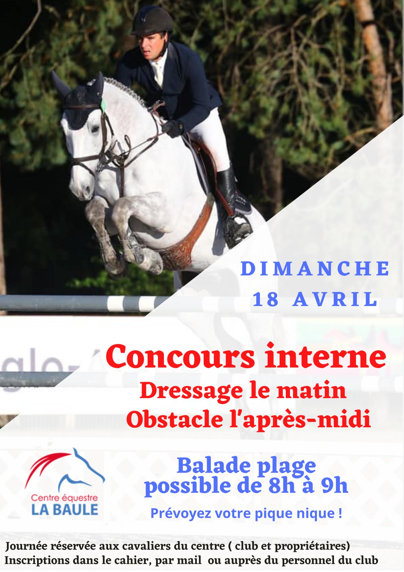 Affiche concours interne